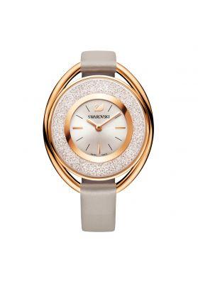 Swarovski_Crystalline_Oval_Rose_&_Grey_Leather_Watch