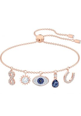 Swarovski Symbolic Bracelet, Multi-Coloured, Rose Gold Plating