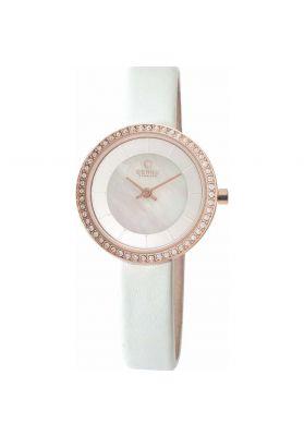 Obaku 'Stille' Rose Gold and Crystal Watch