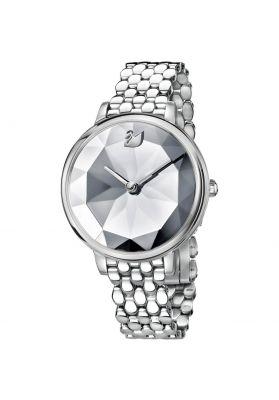 Swarovski Crystal Lake Watch, Metal Bracelet, White, Silver Tone