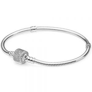 Pandora Moments Sparkling Pavé Clasp Snake Chain Bracelet 590723CZ-16, 590723cz-17, 590723cz-18, 590723cz-19, 590723cz-20, 590723cz- 21, 590723cz-23