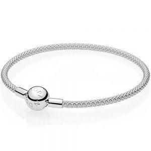 Pandora Moments Mesh Bracelet-596543-17, 596543-19, 596543-21