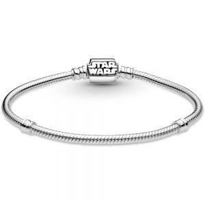 Pandora Moments Star Wars Snake Chain Clasp Bracelet-599254c00-17, 599254c00-19, 599254c00-21