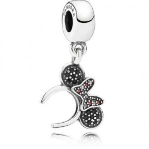 Pandora Disney Minnie Mouse Pave Headband Dangle Charm