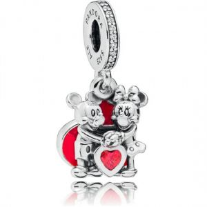 Pandora Disney Mickey Mouse and Minnie Mouse Love Dangle Charm