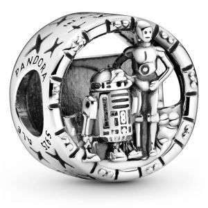 Pandora Star Wars  C-3PO and R2-D2 Openwork Charm 799245C00