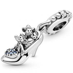 Pandora Disney Cinderella Glass Slipper & Mice Dangle Charm 799192CO1