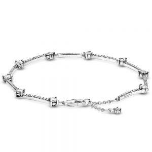 Pandora Sparkling Pavé Bars Rose Bracelet 599217C02-16, 599217C02-18, 599217C02-20