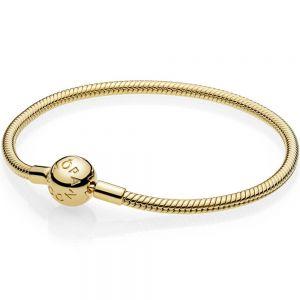 Pandora Moments Snake Chain Shine Bracelet-568748c00-16, 17, 18, 19, 20, 21