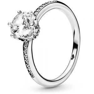 Pandora Clear Sparkling Crown Solitaire Ring 198289CZ