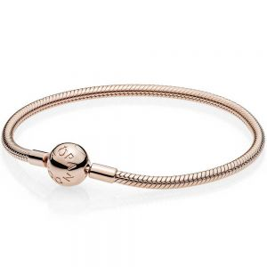 Pandora Rose Moments Smooth Bracelet-580728-16, 17, 18, 19, 20, 21