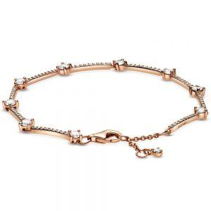 Pandora Sparkling Pavé Bars Rose Bracelet 589217C02-16, 589217C02-18, 589217C02-20