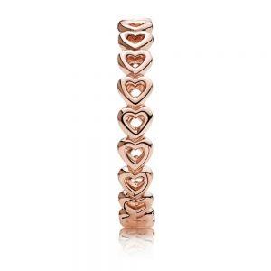 Pandora Rose Band of Hearts Ring 180177