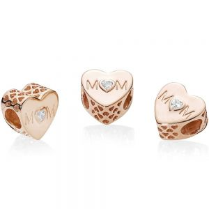 Pandora Rose Clear Mum Heart Charm 781881CZ