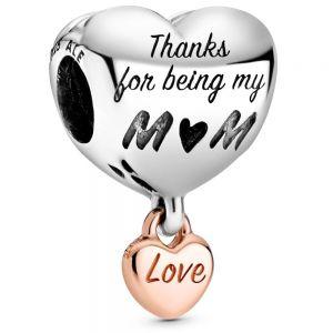 Pandora Love You Mum Heart Charm 788830C00