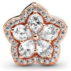 Pandora Sparkling Snowflake Pavé Rose Charm 789224C01