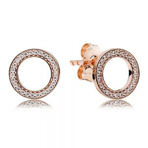 Pandora Sparkling Circle Stud Earrings-280585CZ
