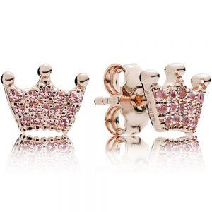 Pandora Pink Crown Stud Earrings-287127npo