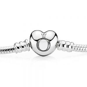Pandora Moments Heart Clasp Snake Chain Bracelet 590719