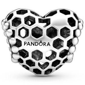 Pandora Bee Happy Honeycomb Heart Charm 798769C00