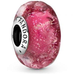 Pandora Wavy Fancy Pink Murano Glass Charm 798872C00