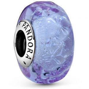 Pandora Wavy Lavender Murano Glass Charm 798875C00