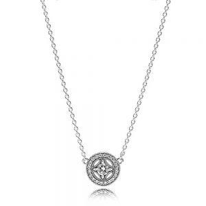 Pandora Vintage Circle Collier Necklace 590523CZ-45