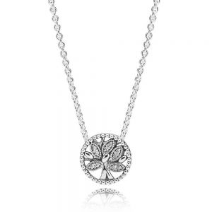 Pandora Sparkling Family Tree Necklace 397780CZ-45
