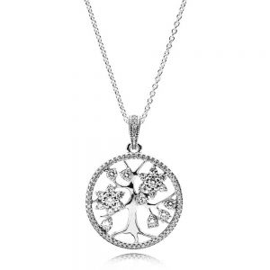 Pandora Sparkling Family Tree Necklace 80cm 390384CZ