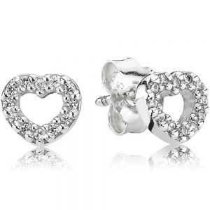 Pandora Heart Stud Earrings-290528cz