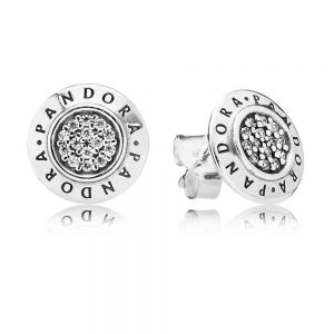 Pandora Sparkling Pandora Logo Stud Earrings 290559CZ