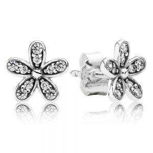 Pandora Sparkling Daisy Flower Stud Earrings-290570cz