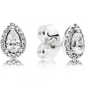 Pandora Sparkling Teardrop Halo Stud Earrings 296252CZ