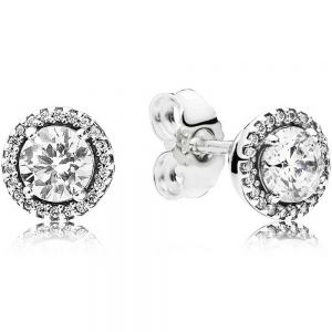 Pandora Round Sparkle Stud Earrings 296272CZ