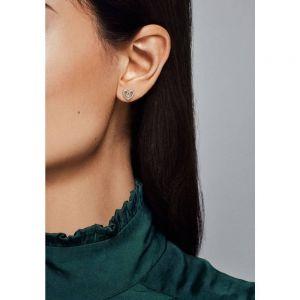 Pandora Heart Swirl Stud Earrings-297099cz