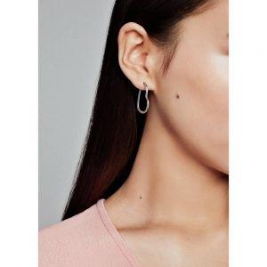 Pandora Asymmetrical Heart Hoop Earrings-297822