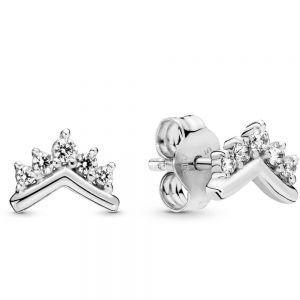Pandora Tiara Wishbone Stud Earrings-298274cz