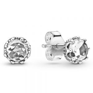 Pandora Clear Sparkling Crown Stud Earrings-298311cz