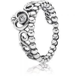 Pandora Princess Tiara Crown Ring 190880cz