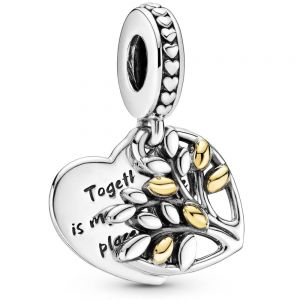 Pandora Two-Tone Family Tree Heart Dangle Charm 799161C00