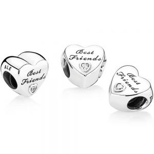 Pandora Polished Best Friends Heart Charm 791727cz