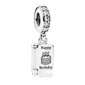 Pandora Birthday Card Dangle Charm 791723CZ