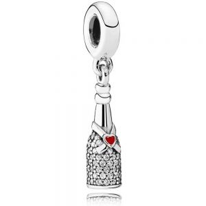 Pandora Sparkling Wine Bottle Dangle Charm 792152CZ