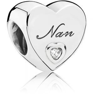Pandora Polished Nan Heart Charm 797031cz