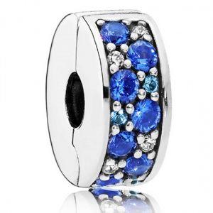 Pandora Blue Pavé Clip Charm 791817nsbmx