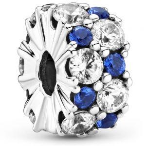 Pandora Clear & Blue Sparkling Clip Charm 799171c01