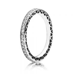 Pandora Sparkle & Hearts Ring 190963cz