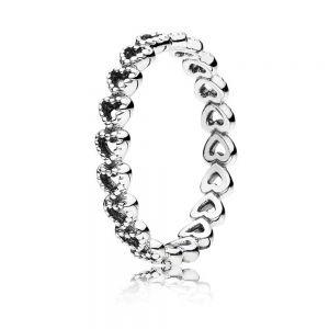 Pandora Band of Hearts Ring 190980