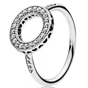 Pandora Sparkling Halo Ring 191039CZ