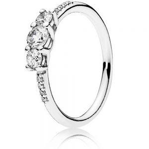 Pandora Clear Three Stone Ring 196242CZ